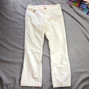 Lily Pulitzer cream corduroy jeans main line fit